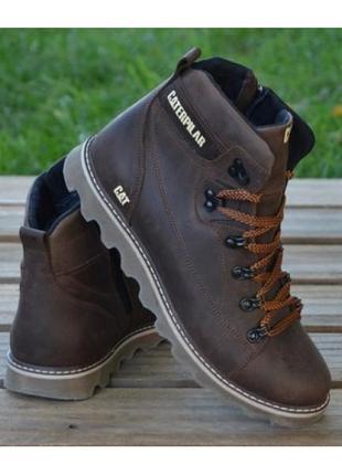 Мужские кожаные зимние ботинки б 707 кор