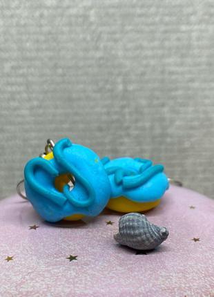 Серёжки пончики с полимерной глины