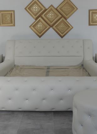 Двухспальная мягкая кровать с подъемным механизмом Joy