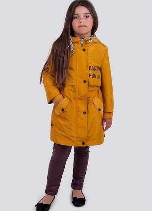 Плащ, куртка для девочки, подростковая, демисезонная