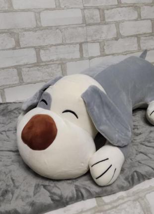 Детский плюшевый плед игрушка подушка 3 в 1 собака