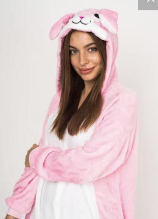 Кигуруми розовый зайчик