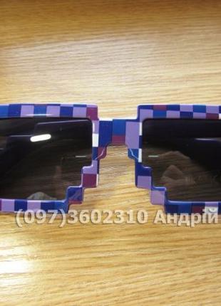 Детские очки из игры Minecraft (Майнкрафт, пиксельные очки, 8bit)