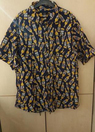 Рубашка-гавайка пивные бутылки