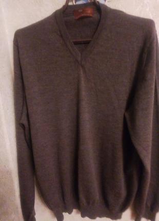 Джемпер/пуловер из шерсти мериноса+шелк
