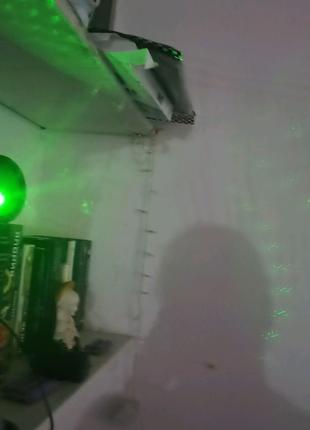 Лазерный проектор диско музыка праздничное освещение подсветка