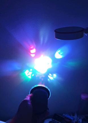 Проектор светодиодные лазерный новогодний ЮСб 220 Вольт USB