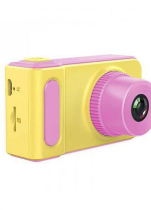 Детский цифровой фотоаппарат с экраном Kids Camera V7 (Розовый)