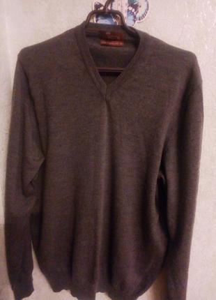 Джемпер,пуловер , свитер унисекс шерсть мериноса+шелк