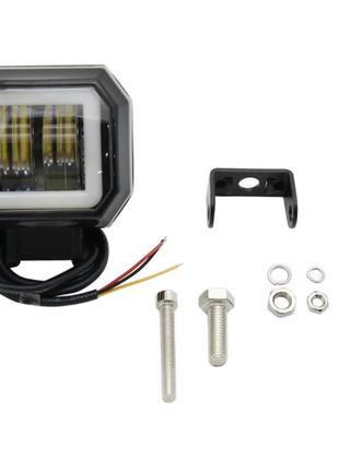 LED противотуманная фара + ангельские глазки LML M4120P D