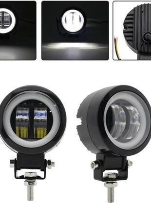 LED противотуманная фара + ангельские глазки  LML M4220P D