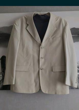 Мужской пиджак,  серо- молочного цвета