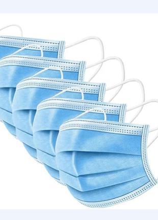 Медична захисна маска тришарова