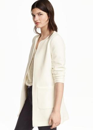 Короткое прямое пальто из структурной ткани h&m
