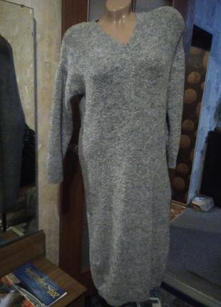 Тепленькое платье, большого размера