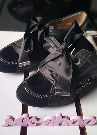 Женские туфли с бантом, фирма media 016