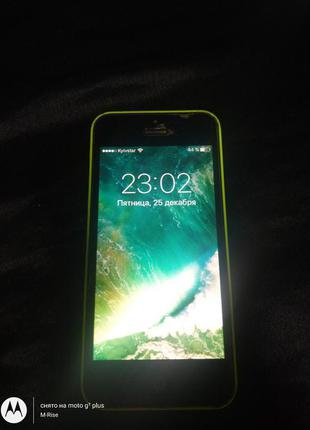 IPhone 5C 16GB LTE A1532 зеленый из США Icloud чужой ! ios 10.3.3