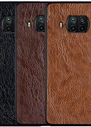 Кожаный чехол  для Xiaomi Mi 10T Lite / Redmi Note 9 Pro