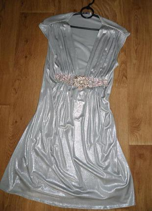 Серебряное платье от arber