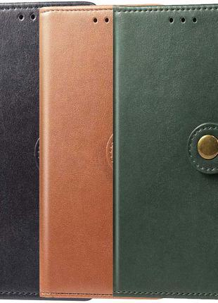 Кожаный чехол книжка  для Xiaomi Mi 10T Lite / Redmi Note 9 Pro