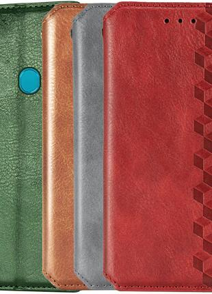 Кожаный чехол книжка GETMAN для ZTE Blade A7