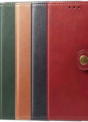 Кожаный чехол книжка GETMAN для Samsung Galaxy M51