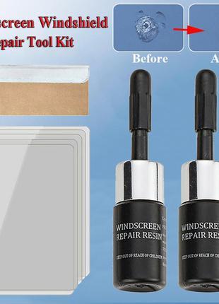 2в1 набір клей полімер для ремонту лобового скла тріщини відколи