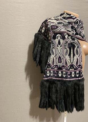 Шарф платок натуральный мех