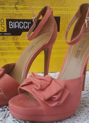 Гламурные туфли antonio biaggi нубук,кожа
