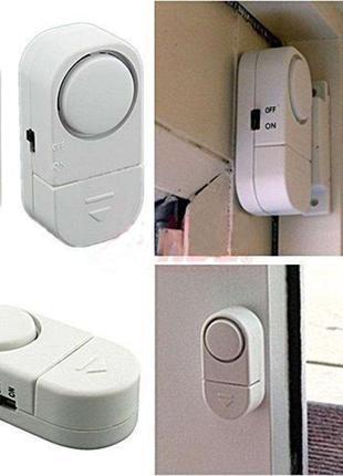 Беспроводная мини сигнализация для окон и дверей (датчик вскрытия