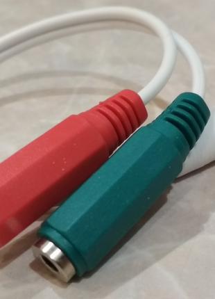 Разветвитель наушников и микрофона для ноутбука