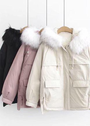 Красивая  укороченная куртка парка
