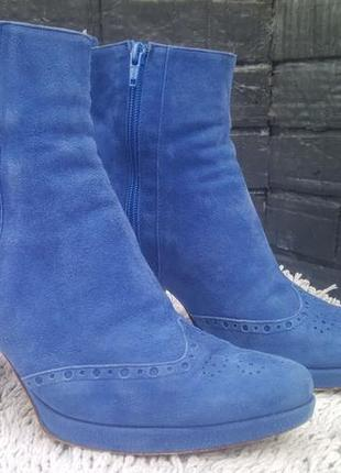 Брендовая обувь basconi 41 размер нат.замша италия