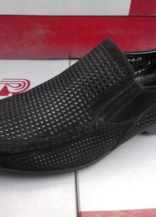 Мужские туфли ronny натуральный нубук 43р - 29см
