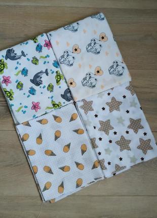 Набор пеленок для пелинания новорожденных 2+2