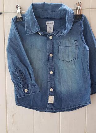 Сорочка джинс для хлопчика  бренд: carters