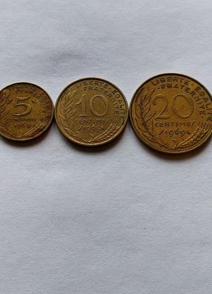Продам монеты Франции 1969 г.