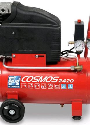 Компрессор поршневой 24л COSMOS 2420 220V CE ROSSO FIAC