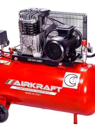 Компрессор поршневой с ременным приводом 100л AIRKRAFT