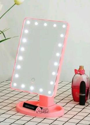 Зеркало для макияжа NBZ Large LED Mirror настольное с подсветкой