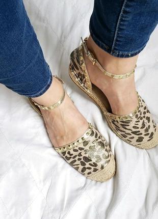 Michael kors gold cheetah женские гепардовые эскадрильи сандал...