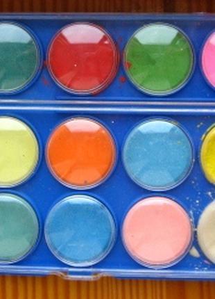 Краски детские школьные акварельные, палетка, торг
