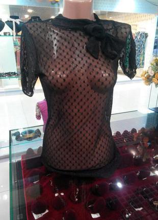 Прозрачная блузка terranova s.m.l