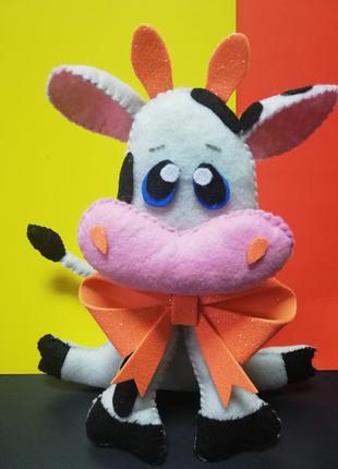 корова Апельсинка интерьерная игрушка новогодний сувенир
