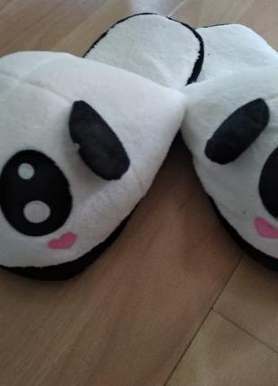 Тапочки  панда без задника