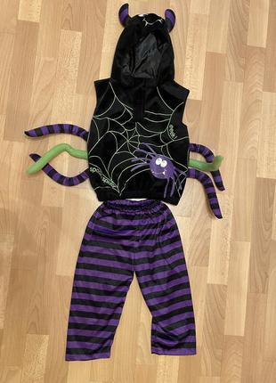 Костюм паучка на карнавал новый год. на 2-4 года.