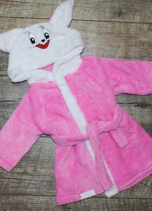 Махровый халат зайка на 1-5 лет
