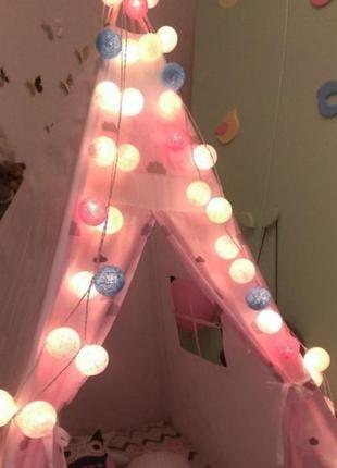 Гирлянда интерьерная из шаров/ночник/декор детской/украшение в...