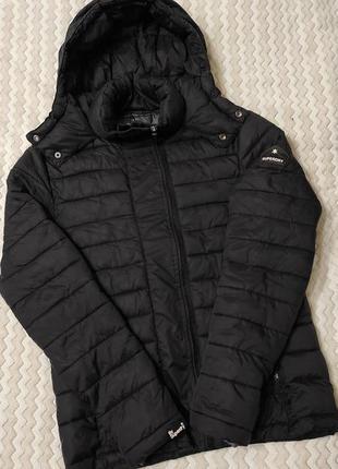 Жіноча зимова куртка мікропуховик зимняя микропуховик superdry