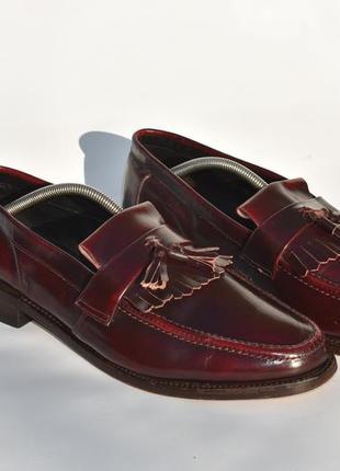 Samuel windsor england!! мужские лоферы мокасины кожаные  разм...